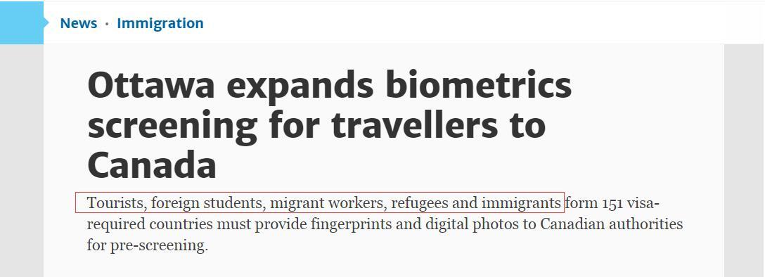 2018 visa biometrics